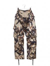 【USED】<br>TRIBAL CAMOUFLAGE CARGO PANTS