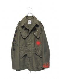 【USED】<br>NETHERLANDS ARMY<br>PAINT CUSTOM MILITARY FIELD JACKET