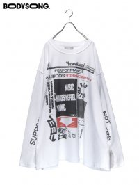 【BODYSONG.】<br>GLST / WHITE × BLACK