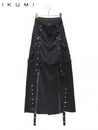 【IKUMI】<br>PIERCED LONG SKIRT