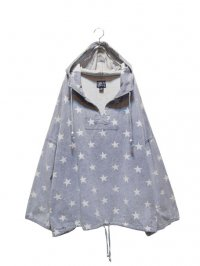 【USED】<br>STAR PATTERN BIG DENIM HOODIE