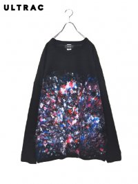 【ULTRAC】<br>5XL PAINT BIG LONG SLEEVE Tee (A)