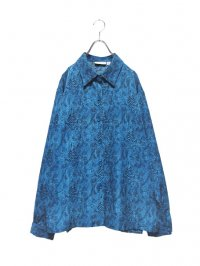 【USED】<br>BLUE PYTHON PATTERN<br>LONG SLEEVE SHIRT