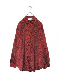 【USED】<br>RED PYTHON PATTERN<br>LONG SLEEVE SHIRT