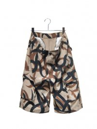 【USED】<br>TRIBAL CAMOUFLAGE CARGO SHORTS