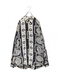 【USED】<br>ART PATTERN LONG SLEEVE SHIRT