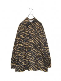 【USED】<br>TIGER PATTERN LONG SLEEVE SHIRT