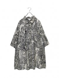 【USED】<br>ANIMAL PATTERN SILK SHIRT