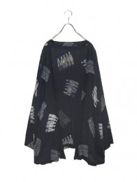 【USED】<br>ETHNIC PATTERN RAYON CARDIGAN