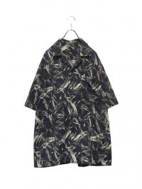 【USED】<br>ART PATTERN OPEN COLLAR SHIRT