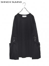 【SHINICHI SUMINO】<br>MUSLIN LONG SLEEVE Tee / BLACK