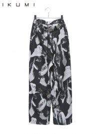 【IKUMI】<br>YOKAI HEMP PANTS / BLACK