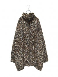 【USED】<br>LEOPARD PATTERN OVER SIZED ZIP BLOUSON