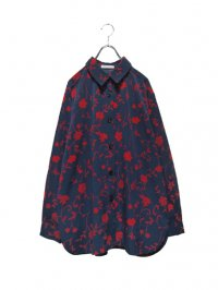 【USED】<br>ARABESQUE STYLE FLOWER ALLOVER PATTERNED SHIRT