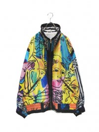 【USED】<br>ART PATTERN DESIGN NYLON JACKET