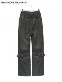 【SHINICHI SUMINO】<br>OLD DENIM BONDAGE PANTS / BLACK