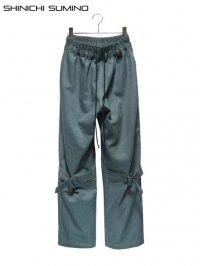 【SHINICHI SUMINO】<br>OLD DENIM BONDAGE PANTS / BLUE