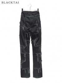 【BLACKTAI】<br>DESTROYED PATCH PANTS