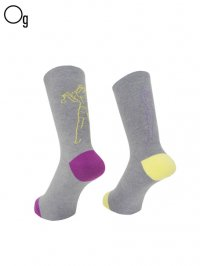 【GanaG Socks】<br>bank robber vs police Socks 2.0 / GRAY