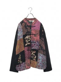 【USED】<br>''WHITE STAG''<BR>WOVEN ALLOVER PATTERN PATCHWORK CHINA JACKET (C)