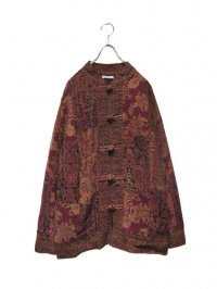 【USED】<br>''WHITE STAG''<BR>WOVEN ALLOVER PATTERN PATCHWORK CHINA JACKET (B)