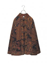 【USED】<br>''WHITE STAG''<BR>WOVEN ALLOVER PATTERN PATCHWORK CHINA JACKET (A)