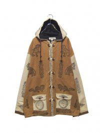【USED】<br>SYMBORIC PATTERN HOODED JACKET
