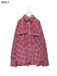 【MGCT】<br>STICTHING PLAID SHIRT