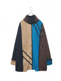 【USED】<br>PANEL SWITCHING DESIGN FREECE JACKET