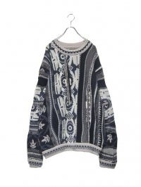 【USED】<br>''COOGI'' CRAZY PATTERN KNIT