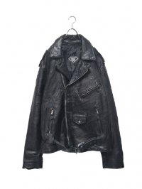 【USED】<br>PATCHWORK LEATHER BIG DOUBLE RIDERS JACKET