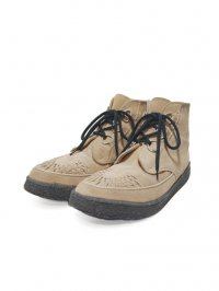【USED】<br>''GEORGE COX''<BR>HI CUT RUBBER SOLE SHOES / BEIGE SUEDE