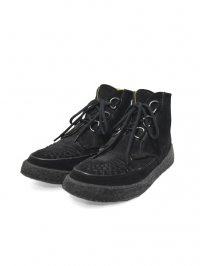 【USED】<br>''GEORGE COX''<BR>HI CUT RUBBER SOLE SHOES / BLACK SUEDE