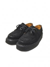【USED】<br>''GEORGE COX''<BR>RUBBER SOLE SHOES / BLACK SUEDE
