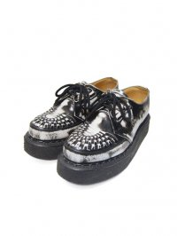 【USED】<br>''GEORGE COX''<BR>RUBBER SOLE SHOES / WHITE RUBOFF