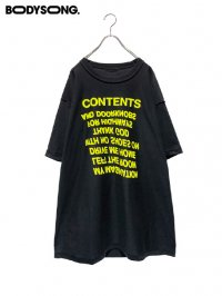【BODYSONG.】<br>TEE/CONTENTS