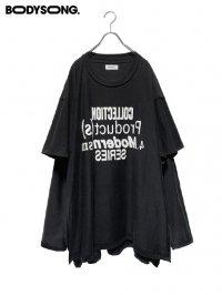 【BODYSONG.】<br>Two-layerT-shirt