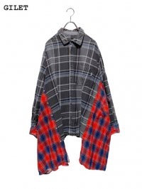 【GILET】<br>DOUBLE FLANNEL SHIRT / GRAY (A)