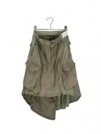 【USED】<br>RECONSTRUCTED MILITARY SKIRT