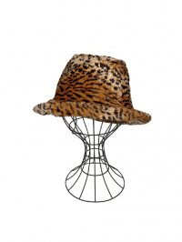 【USED】<br>LEOPARD VELOUR HAT