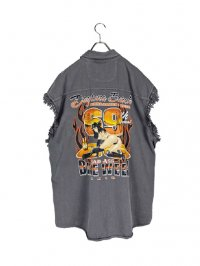 【USED】<br>3XL OVERSIZED CUT OFF SHIRT VEST