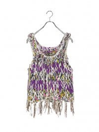 【USED】<br>MULTI KNITTED FRINGE TOPS
