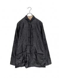 【USED】<br>ALLOVER PATTERN REVERSIBLE SILK CHINA SHIRT