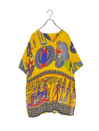 【USED】<br>EGYPTIAN ART GRAPHIC CUT SEW
