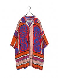 【USED】<br>PSYCHEDELIC GRAPHIC OPEN COLLAR BIG SHIRT
