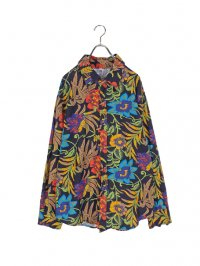 【USED】<br>PSYCHEDELIC BOTANICAL PATTERN SHIRT