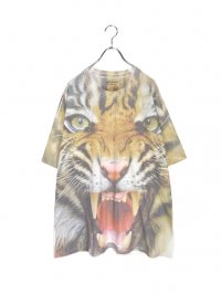 【USED】<br>TIGER FACE FULL PRINT Tee