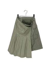 【USED】<br>MILITARY REMAKE WRAP SKIRT