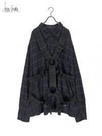 【dena:mana】<br>Dyed check parachute shirt (C)