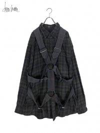 【dena:mana】<br>Dyed check parachute shirt (B)